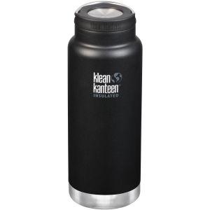 Klean Kanteen TKWide 946ml Isolierte Trinkflasche mit Loop Cap Shale Black