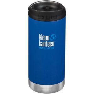 Klean Kanteen TKWide Insulated 355ml Trinkflasche mit Café Cap 2.0 Deep Surf