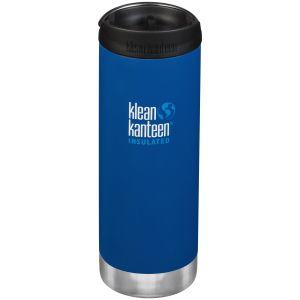 Klean Kanteen TKWide Insulated 473ml Trinkflasche mit Café Cap 2.0 Deep Surf