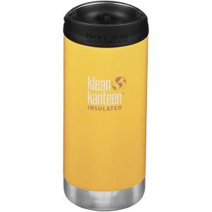 Klean Kanteen TKWide Insulated 355ml Trinkflasche mit Café Cap 2.0 Lemon Curry