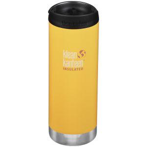 Klean Kanteen TKWide Insulated 473ml Trinkflasche mit Café Cap 2.0 Lemon Curry