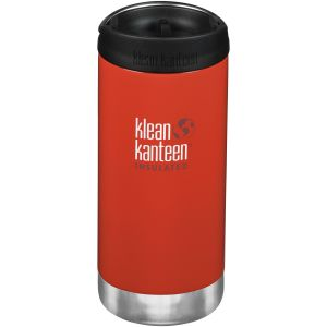 Klean Kanteen TKWide Insulated 355ml Trinkflasche mit Café Cap 2.0 Post Box Rot