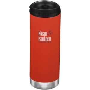 Klean Kanteen TKWide Insulated 473ml Trinkflasche mit Café Cap 2.0 Post Box Rot