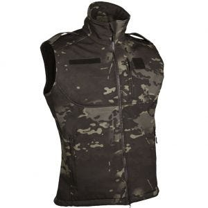 Mil-Tec Softshell-Weste Multitarn Black