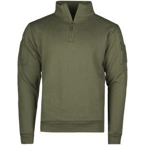 Mil-Tec Tactical Sweatshirt with Zipper Ranger Green