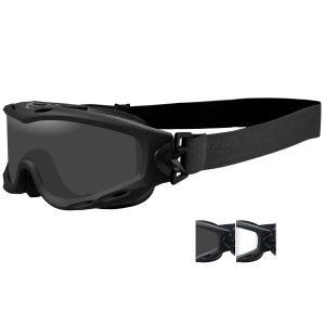 Wiley X Spear Schutzbrille - Gläser in Smoke Grey + Transparent / Gestell in Mattschwarz