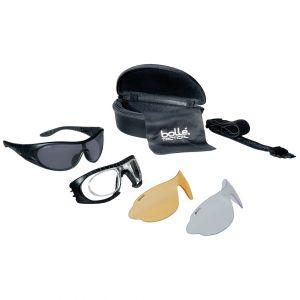 Bolle Raider Ballistische Schutzbrille - Gläser in Klar, Rauchgrau & Gelb / schwarzes Gestell