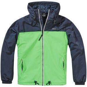 Brandit Harris 2-Colour Windjacke Indigo/Spring Green