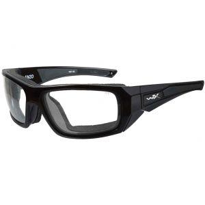 Wiley X WX Enzo Schutzbrille - Gläser in Transparent / glänzend schwarzes Gestell