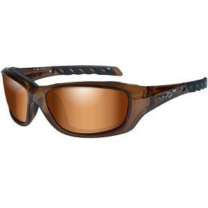 Wiley X WX Gravity Schutzbrille - Gläser in Bronze Flash / Gestell in Brown Crystal