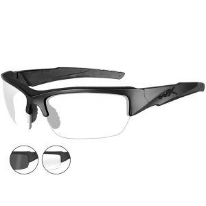 Wiley X WX Valor Schutzbrille - Gläser in Smoke Grey + Transparent / Gestell in Mattschwarz