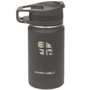 Earthwell Roaster Vakuum-Trinkflasche mit Befestigungsvorrichtung 355 ml Volcanic Black