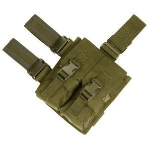 Flyye Drop Leg Beinholster-Doppel-Magazintasche für M4/M16 Coyote Brown