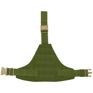 Flyye MOLLE-Beinplatte Dreieck Olive Drab