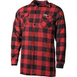 Fox Outdoor Holzfällerhemd Rot / Schwarz kariert
