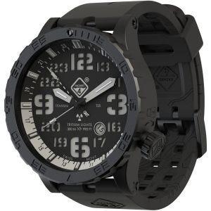 Hazard 4 Heavy Water Diver Titanium Nightwatch GMT-Armbanduhr mit Tritium-Lichtquelle Weiß/Grün/Gelb