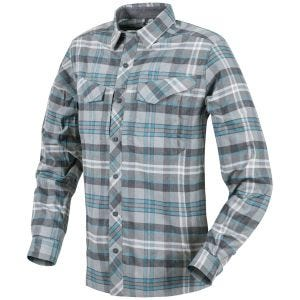 Helikon Defender Mk2 Pilgrim Shirt Long Sleeve Blue Plaid