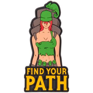 """Helikon Patch mit Spruch """"Find Your Path"""" Olive Green"""
