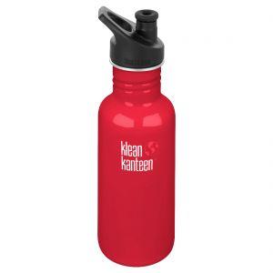 Klean Kanteen Classic 532 ml Trinkflasche mit Sport Cap 3.0 Mineral Red