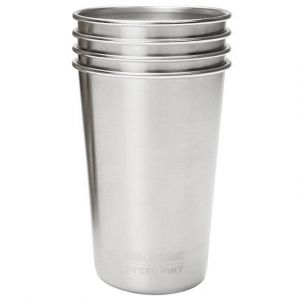Klean Kanteen 473 ml Pint-Trinkbecher (4-er Set) Brushed Stainless
