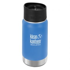 Klean Kanteen Wide Insulated 355 ml Trinkflasche mit Café Cap 2.0 Pacific Sky