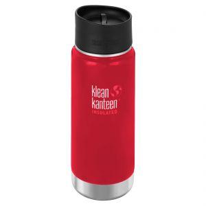 Klean Kanteen Wide Insulated 473 ml Trinkflasche mit Café Cap 2.0 Mineral Red