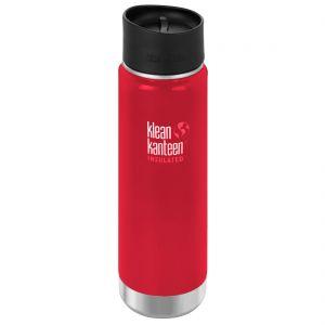 Klean Kanteen Wide Insulated 592 ml Trinkflasche mit Café Cap 2.0 Mineral Red