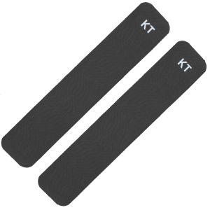 KT Tape Kinesio-Tape 2 Streifen aus Baumwolle Schwarz