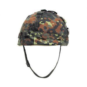 MFH Kunststoff-Helm mit Stoffbezug Flecktarn