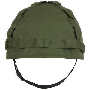 MFH Kunststoff-Helm mit Stoffbezug OD Green