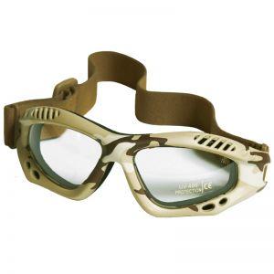 Mil-Tec Commando Air Pro Schutzbrille Gläser Transparent Gestell Desert