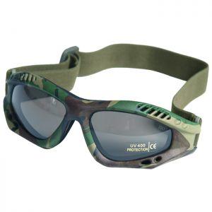 Mil-Tec Commando Air Pro Schutzbrille Gläser Rauchgrau Gestell Woodland