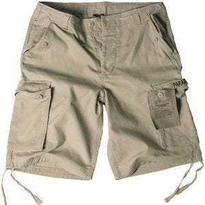 Mil-Tec Paratrooper Cargo-Shorts Prewashed Khaki