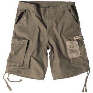 Mil-Tec Paratrooper Cargo-Shorts Prewashed Oliv