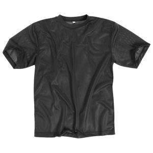 Mil-Tec T-Shirt aus Netzstoff Schwarz