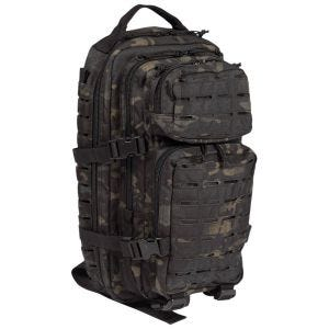Mil-Tec US Assault Pack Laser Cut Small Einsatzrucksack Multitarn Black