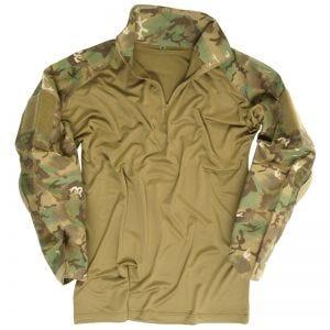 Mil-Tec Warrior Shirt mit Ellbogenschutz Arid Woodland