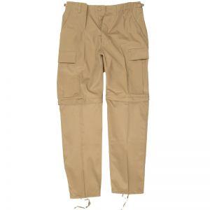 Mil-Tec Feldhose mit abtrennbaren Hosenbeinen Khaki