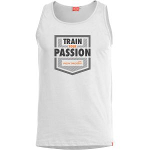 "Pentagon Astir Ärmelloses Top mit Aufschrift ""Train Your Passion"" Weiß"
