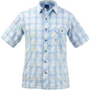 Propper Covert Kurzärmliges Hemd mit Knopfleiste Light Blue Plaid