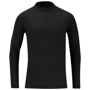 Propper Langarm-Unterhemd aus mittelschwerem Stoff Schwarz