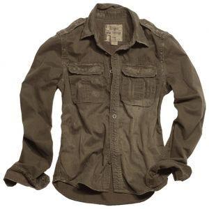 Surplus Raw Langarmshirt im Vintage-Stil Braun