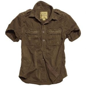 Surplus Raw Kurzarmshirt im Vintage-Stil Braun