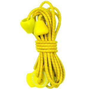 Ultimate Performance Reflektierende elastische Schnürsenkel Gelb