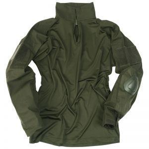 Mil-Tec Warrior Shirt mit Ellbogenschutz Oliv
