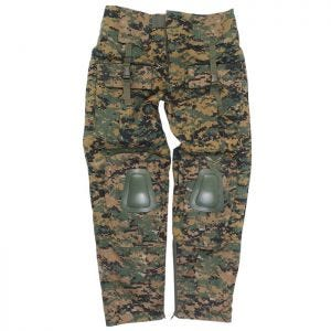 Mil-Tec Warrior Hose mit Knieschutz Digital Woodland
