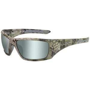 Wiley X WX Nash Glasses - Polarized Grün Platinum Flash Lens / Kryptek Altitude Frame