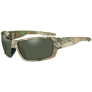 Wiley X WX Rebel Brille - Polarisierte Gläser in Grün / Gestell in RealTree Xtra Camo