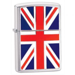 Zippo Union Jack Feuerzeug mit britischer Flagge
